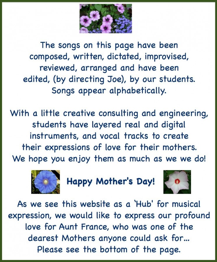 Mother's Day Text Flowers