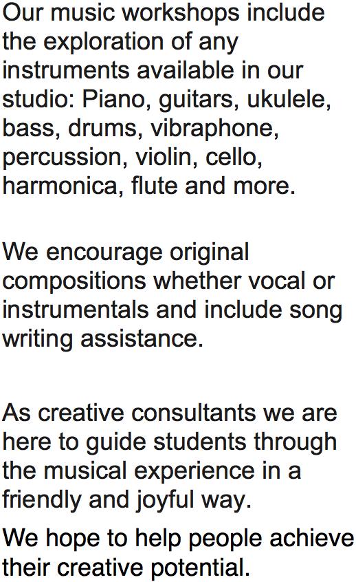 music workshops (image)