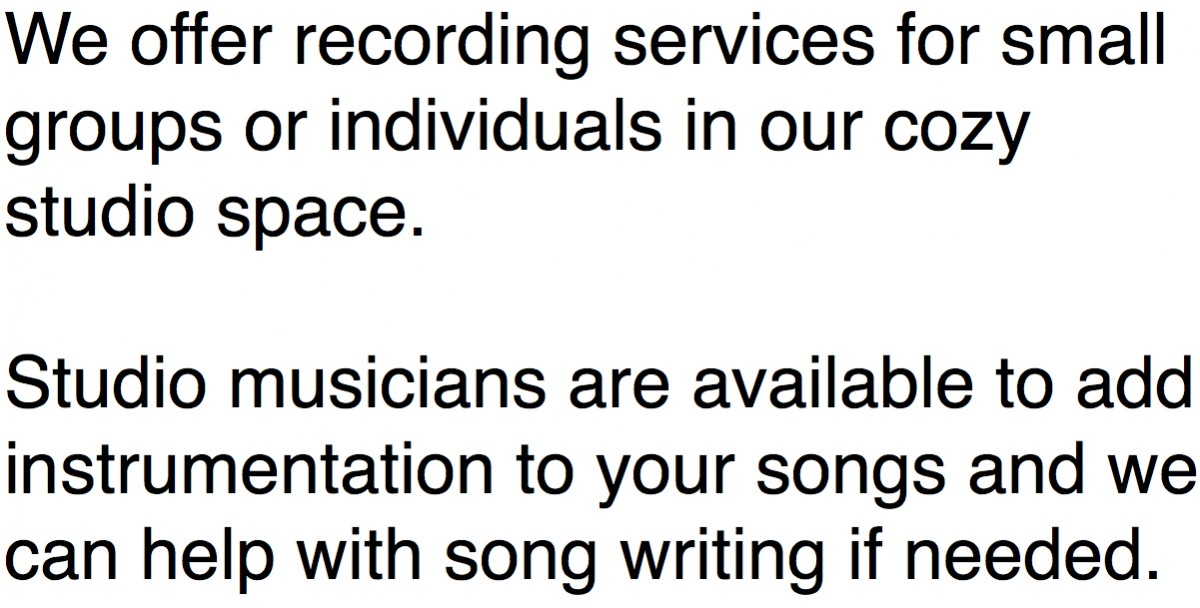 recording services (image)