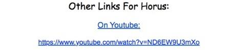 horus youtube link image